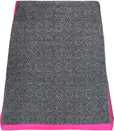 Raoul Silk-trimmed bouclé mini skirt