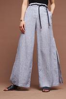 Elevenses Striped Linen Wide-Legs