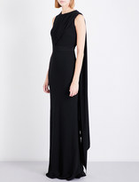 Alexander McQueen Open-back draped crepe gown