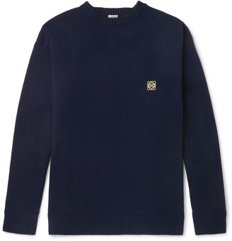 Loewe Logo-Embroidered Wool Sweater