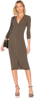 Enza Costa Rib Cardigan Midi Dress