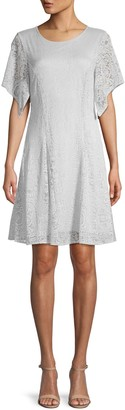 BCBGMAXAZRIA Short-Sleeve Lace Mini Dress
