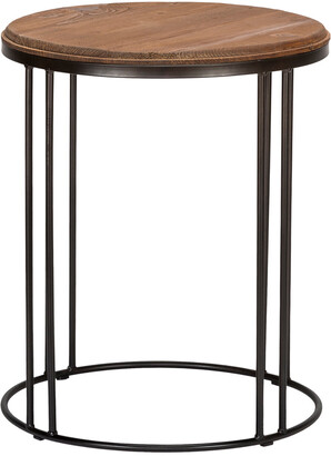 Classic Home By Kosas Home Baron Reclaimed Pine End Table