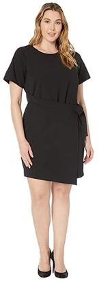 MICHAEL Michael Kors Size T-Shirt Wrap Dress (Black) Women's Dress
