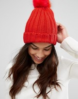 Oasis Mixed Faux Fur Pom Beanie Hat