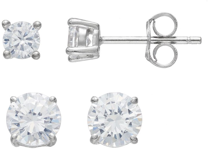f901f367a Stud Large Cubic Zirconia Earrings - ShopStyle