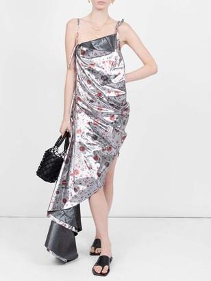 Marques Almeida Floral Print Asymmetric Dress