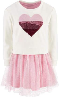 Epic Threads Toddler Girls 2-Pc. Sequin Heart Sweatshirt & Tutu Dress
