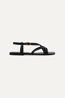 Ancient Greek Sandals Semele Leather Sandals - Black