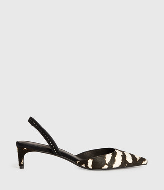 AllSaints Mia Leather Slingback Shoes