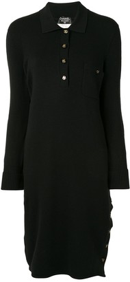 Chanel Pre Owned 1993 CC button jumper dress