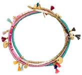 Shashi Lilu Bracelet Set in Metallic Gold.