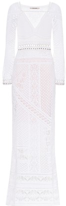 Roberto Cavalli Cotton-blend crochet maxi dress