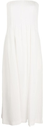 Nina Ricci Pleated Front Maxi Dress