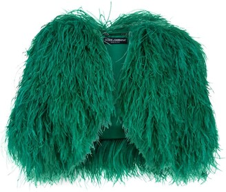 Dolce & Gabbana Cropped Faux Fur Coat