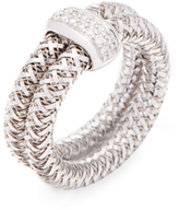 Roberto Coin Primavera 18K White Gold & 0.14 Total Ct. Diamond Double Band Ring