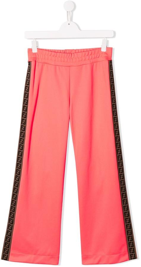 Fendi TEEN side-stripe flared trousers