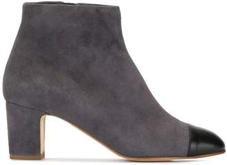 Rupert Sanderson contrast zipped ankle boots