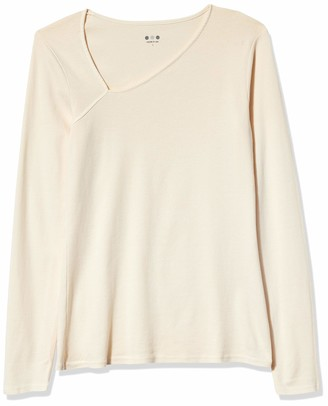 Three Dots Women's AA2774 Heritage Knit Asymmetric Neck TOP