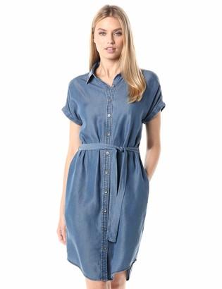 Daily Ritual Amazon Brand Women's Tencel Oversized-Fit Short-Sleeve Shirt Dress