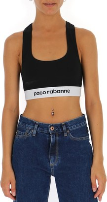 Paco Rabanne Embroidered Logo Sports Top