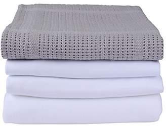 Clair De Lune Cot Bed Sheets Bedding Bale Gift Set, Pink, 4 Piece