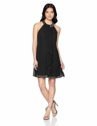 SL Fashions Women's Petite Jewel Halter Sheath Dress (Petite and Regular) Dress