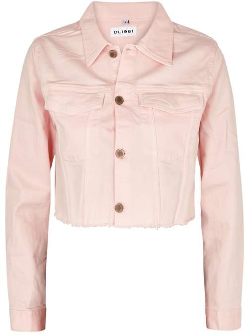 DL1961 Shawn Pink Cropped Denim Jacket