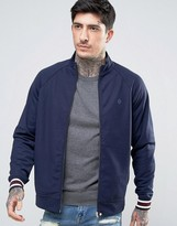 Pretty Green Forston Tricot Track Top Slim Fit in Navy