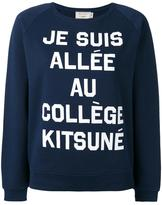 MAISON KITSUNÉ quote print sweatshirt - women - Cotton - L