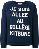 MAISON KITSUNÉ quote print sweatshirt - women - Cotton - M