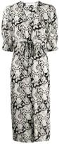 See by Chloe abstract-print midi dress