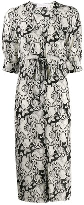 See by Chloe Abstract-Print Midi Dress
