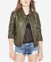 GUESS Bella Faux-Leather Bomber Jacket