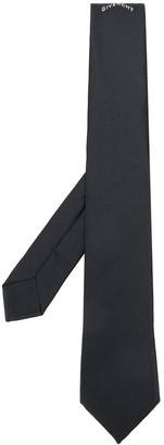 Givenchy Embroidered-Logo Silk Tie