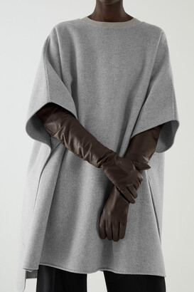 Cos Leather Long Gloves