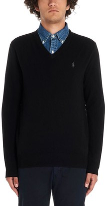 Polo Ralph Lauren V Neck Logo Embroidered Pullover