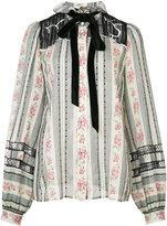 Marc Jacobs victorian bow blouse - women - Silk/Cotton - 8