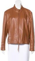 Escada Leather Collared Jacket