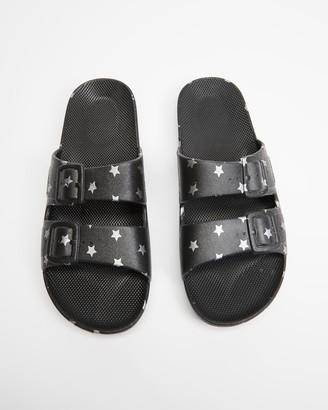 Freedom Moses Black Sandals - Slides - Unisex - Size One Size, 28/29 at The Iconic