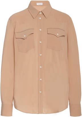 Brunello Cucinelli Silk-Blend Shirt