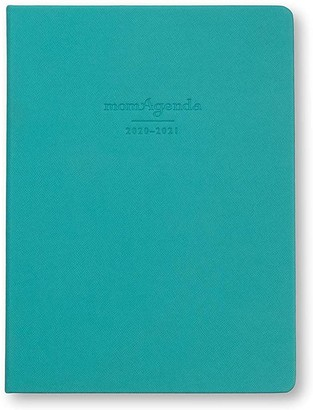 momAgenda Desktop Day Planner (July 2020 - December 2021). Organize Your Busy Life with The Convenient Week-at-A-View Layout. Quotes Included Each Week for Motivation! (Teal)