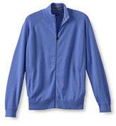 Classic Men's Big Performance Track Jacket Sweater-True Blue