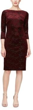 SL Fashions Velvet Sheath Dress