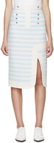 Peter Pilotto Blue & White Track Skirt