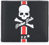 Philipp Plein ́Sucre ́ bi-fold print wallet - men - Cotton/Calf Leather/Leather - One Size