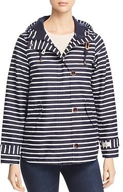 Joules Coast Print Striped Raincoat