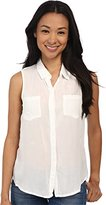 Splendid Women's Sleeveless Button Front Blouse Shirt