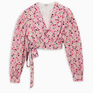 Miu Miu Floral print silk blouse