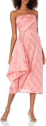C/Meo Women's Same Things Strapless Midi Dress with Ruffle